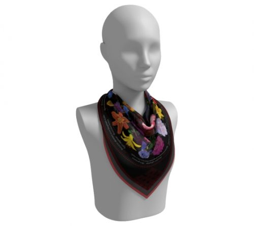 Black Scarf Neck Fold