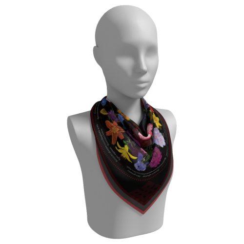 Black Scarf Neck Fold