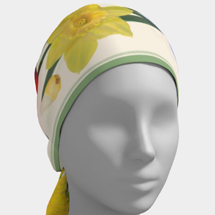 Spring Botanical Scarf Head