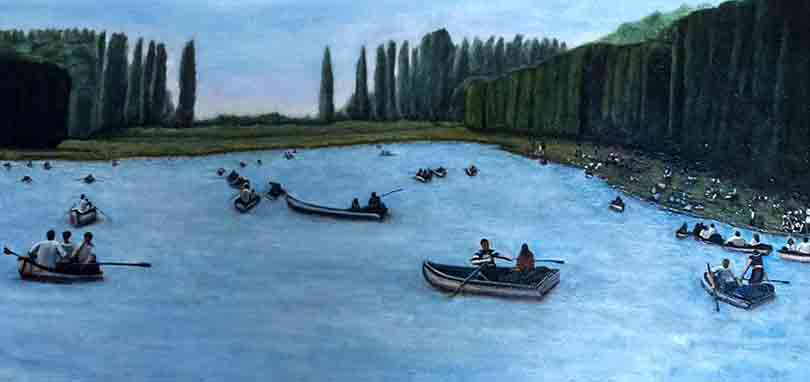 Versailles oil on canvas 30 x 15 inches