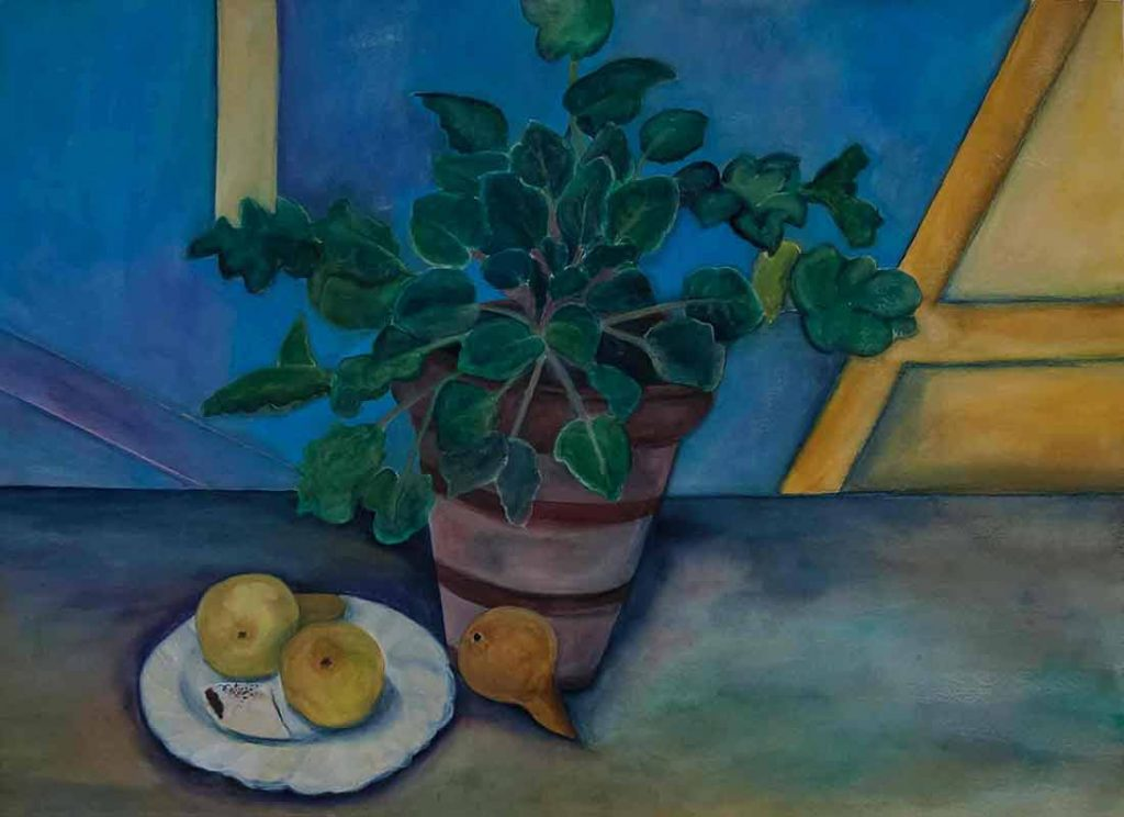 Violet & Pears 30×22 inches