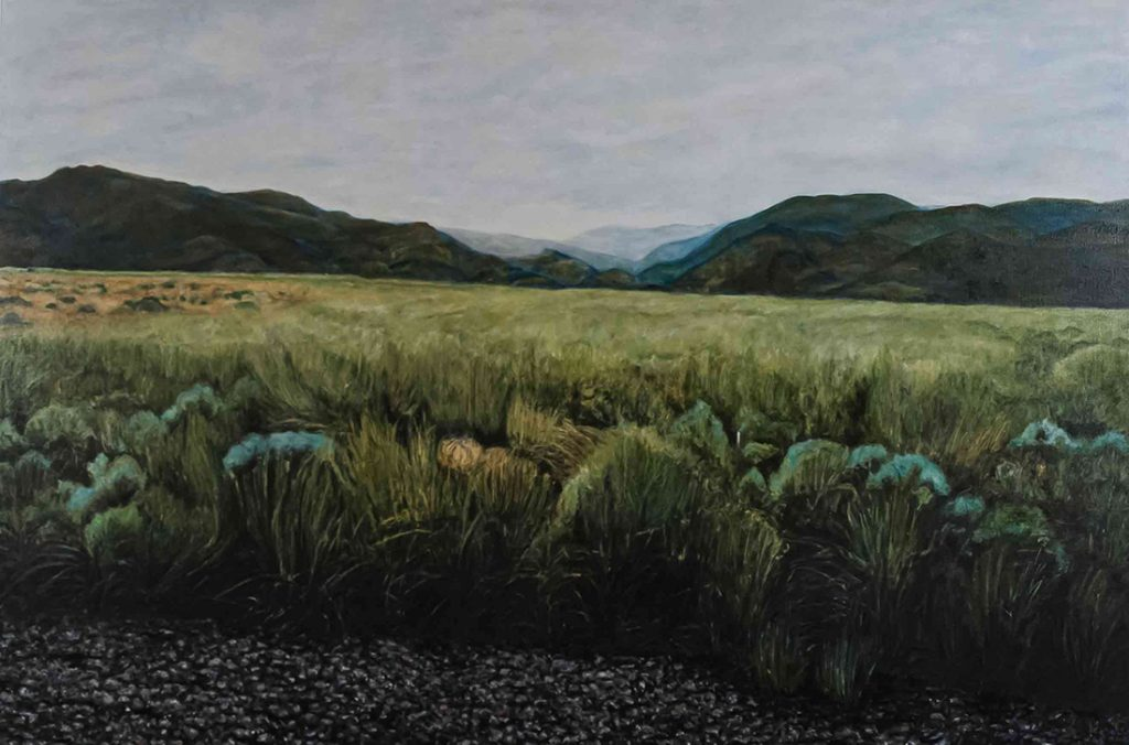 Warner Mountain Range oil on canvas 60 x 40 inches