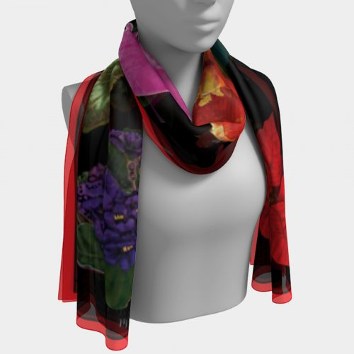 Winter Botanical Scarf Drape