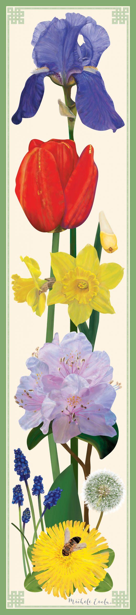 Spring Botanical Scarf