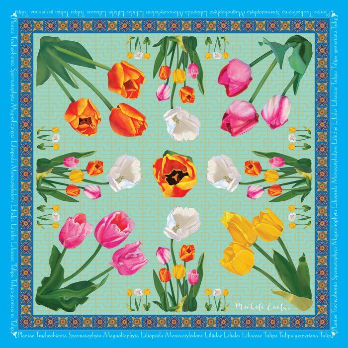 Tulip Botanical Square Scarves