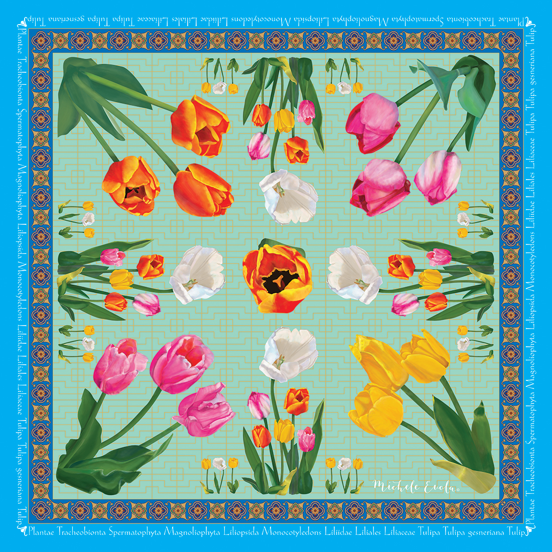 Tulip Botanical Square Scarves