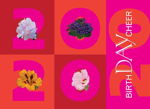 2020 Botanical Birthday Postcards