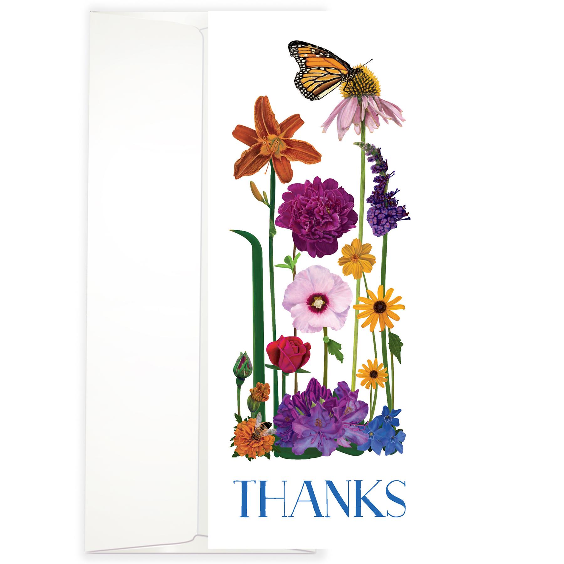 Botanical Thanks Greeting Cards
